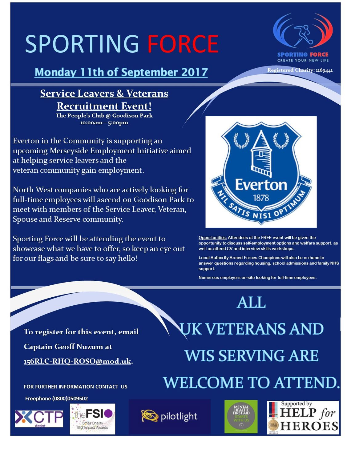 11th September Service Leavers and Veterans Recruitment Day!